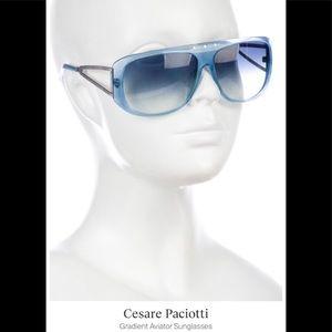 NWOT! Cesare Paciotti Translucent Sky-Blue Aviator